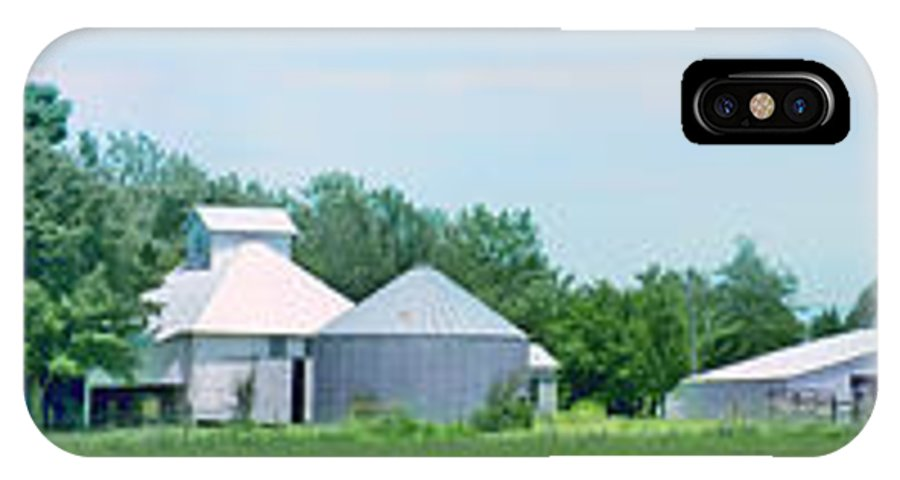 Farms IPhone X Case featuring the photograph Cass County Farm by Nikolyn McDonald
