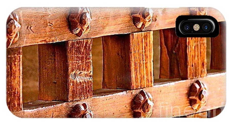 Scottie's Castle IPhone X Case featuring the photograph Castle Door by Michael Cinnamond
