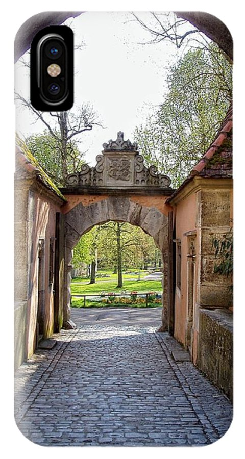 Rothenburg IPhone X / XS Case featuring the photograph Castle Gate Rothenburg Ob Der Tauber by Jenny Hudson