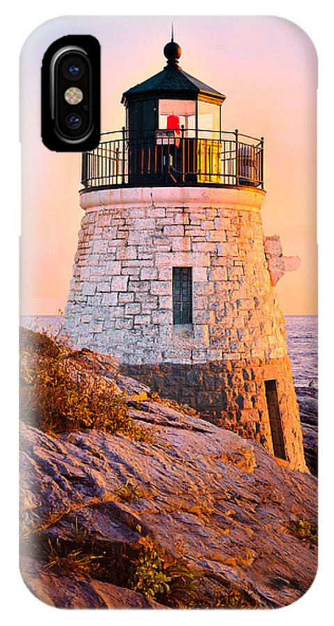Castle IPhone X / XS Case featuring the photograph Castle Hill Light 3 by Marianne Campolongo