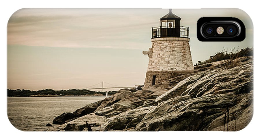 Castle Hill Lighthouse IPhone X Case featuring the photograph Castle Hill Lighthouse by Sherry Boylan