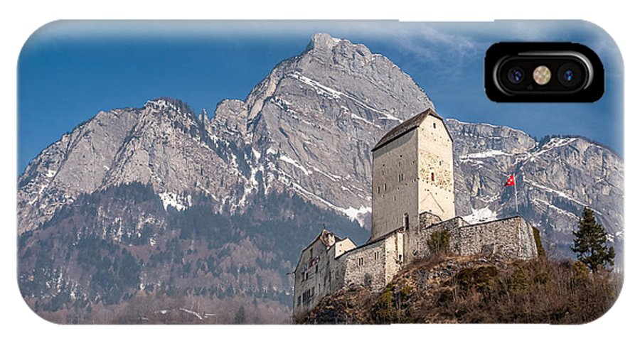 Switzerland IPhone X Case featuring the photograph Castle On A Hill In Switzerland by Pierre Leclerc Photography