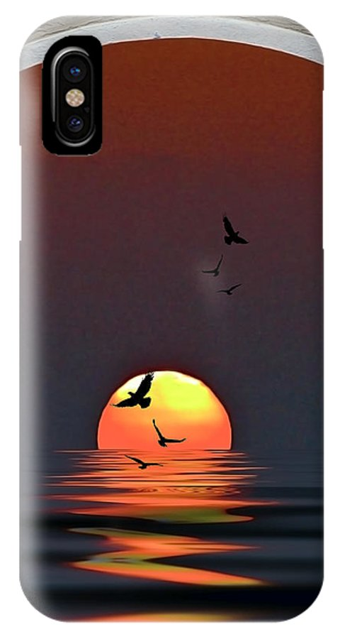 Sunset IPhone X Case featuring the photograph Castle View by Stephen Warren