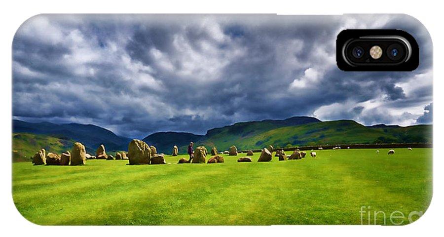 Castlerigg Stone Circle IPhone X Case featuring the photograph Castlerigg Stone Circle by Louise Heusinkveld