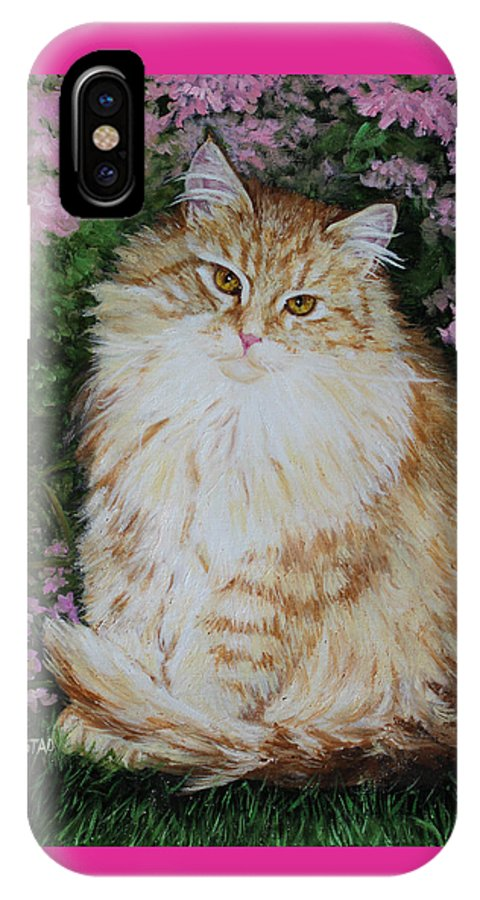 'cat Print Fine Art IPhone Case featuring the painting Kitten Cat Painting Perfect For Child's Room Art by Diane Jorstad