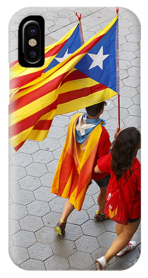 11 September 1714 IPhone X Case featuring the photograph Catalan National Day 2014 by Jannis Werner