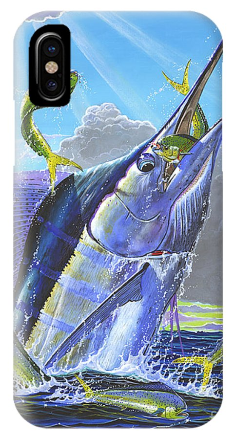 Marlin IPhone X / XS Case featuring the painting Catch Em Up Off0029 by Carey Chen
