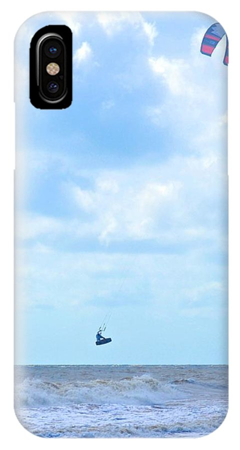 Kite Surfing IPhone X Case featuring the photograph Catching Air by Tara Potts