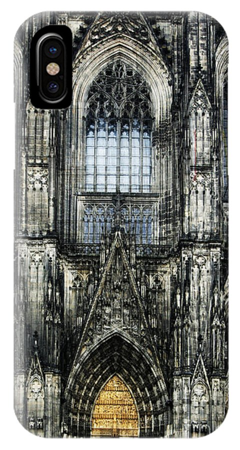 Buildings IPhone X Case featuring the digital art Cathederal In Koln by Angelika Drake