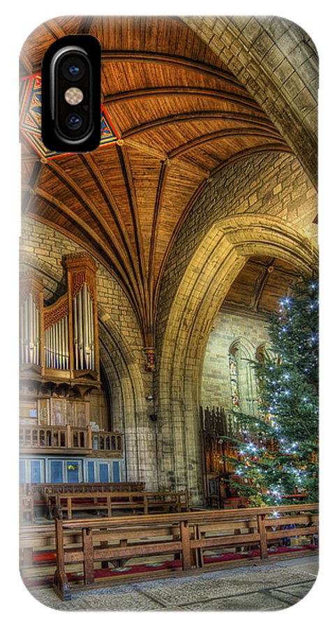Christmas IPhone X Case featuring the photograph Cathedral Christmas by Ian Mitchell