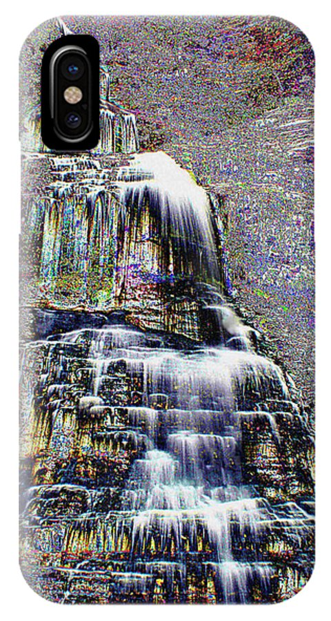 Cathedral Falls IPhone X / XS Case featuring the photograph Cathedral Falls by B Wayne Mullins