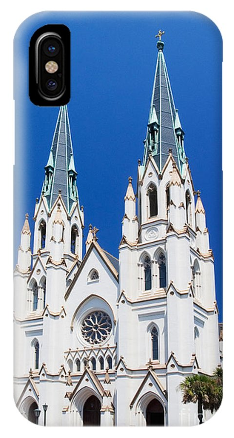 Architecture IPhone X / XS Case featuring the photograph Cathedral, Savannah, Georgia by David Davis