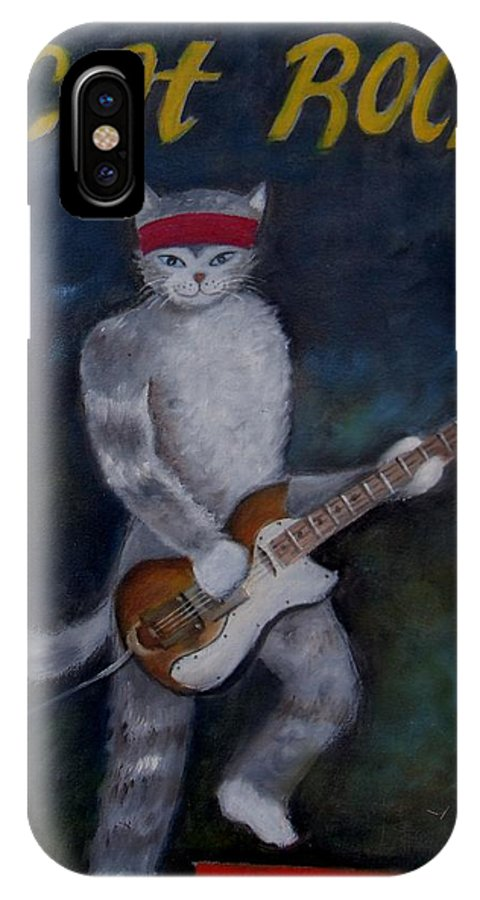 IPhone X Case featuring the painting Catrock by Joe Sanders