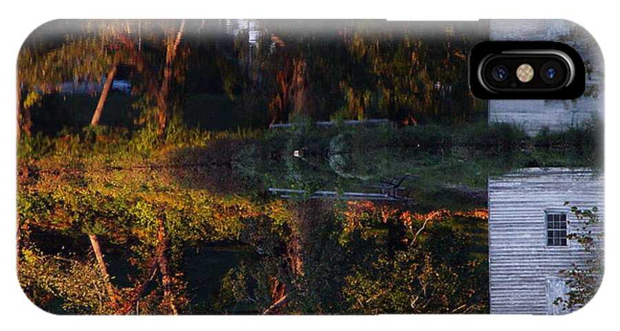 Captivus Brevis IPhone X Case featuring the photograph ...causey's Mill... by Charles Struse Sr