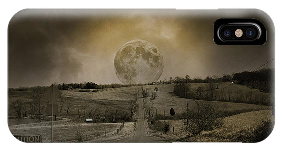 Full IPhone X Case featuring the photograph Caution Road by Betsy Knapp
