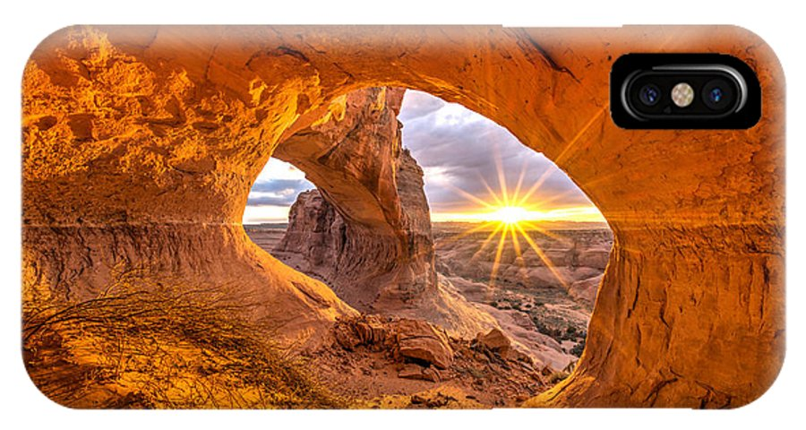 Utah IPhone X Case featuring the photograph Cave Arch by Dustin LeFevre