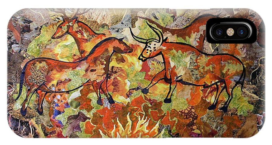 Cave Painting IPhone X Case featuring the mixed media Cave Paintings by Bob Craig