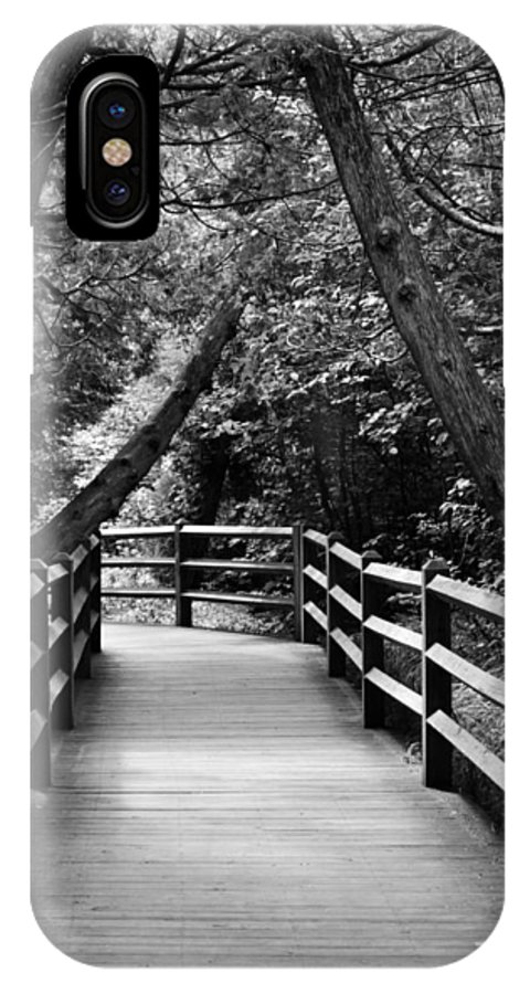 Path IPhone X Case featuring the photograph Cedar Pathway by Michelle Calkins