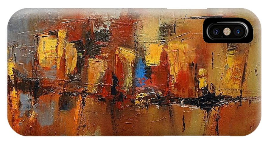 Cefalu IPhone X Case featuring the painting Cefalu by Elise Palmigiani