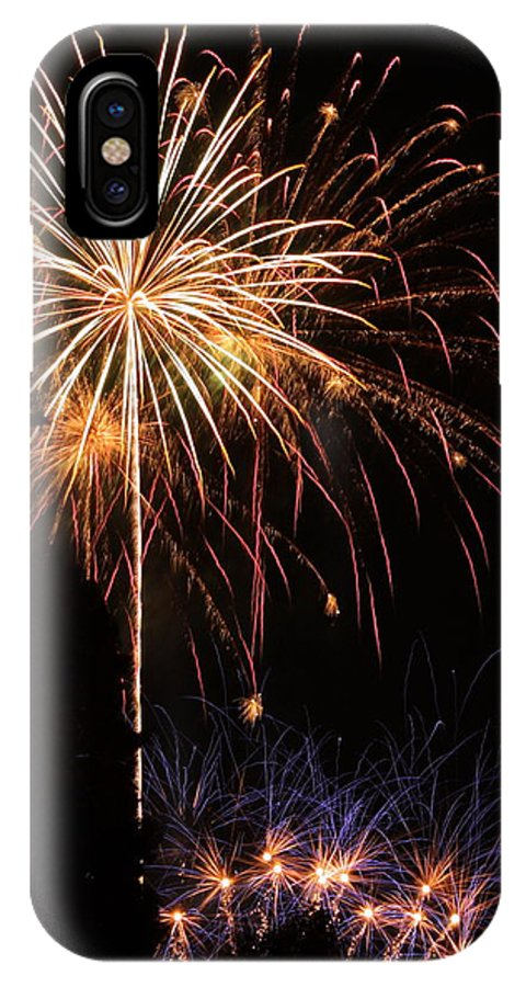 Fireworks IPhone X Case featuring the photograph Celebrate by Teresa Herlinger