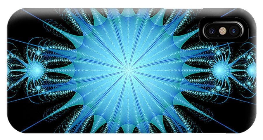 Christmas IPhone X Case featuring the digital art Celebration 6 by Les OGorman