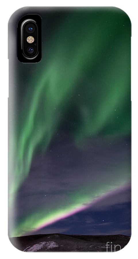 Snowy IPhone X Case featuring the photograph Celestial by Priska Wettstein