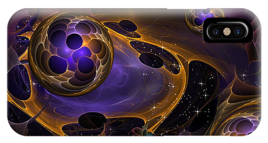 Phil Sadler IPhone X Case featuring the digital art Cell Forms 2 by Phil Sadler