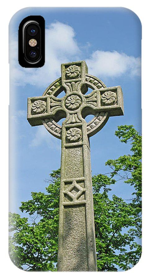Cross IPhone X Case featuring the photograph Celtic Cross by Ann Horn
