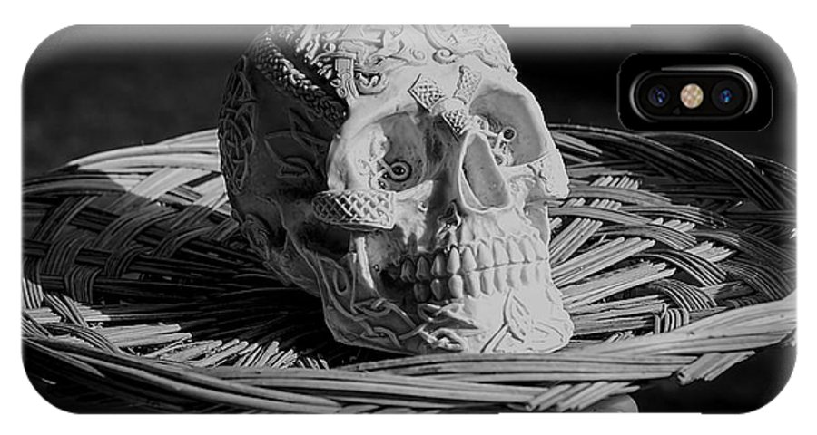 Celtic IPhone X Case featuring the photograph Celtic Skulls Symbolic Pathway To The Other World by LeeAnn McLaneGoetz McLaneGoetzStudioLLCcom