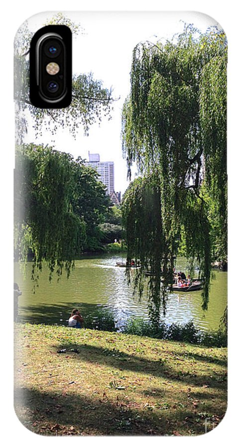 Central Park IPhone X Case featuring the photograph Central Park In The Summer by Christy Gendalia