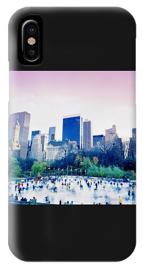 New York IPhone X Case featuring the photograph New York In Motion by Shaun Higson