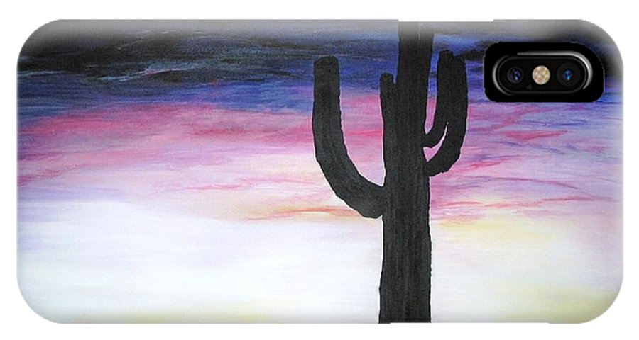 Arizona IPhone X Case featuring the painting Century Of Solitude by Dr B Lynn Tillman