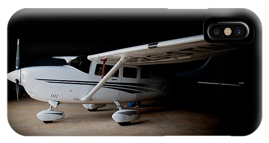 Cessna IPhone X Case featuring the photograph Cessna Waiting by Paul Job