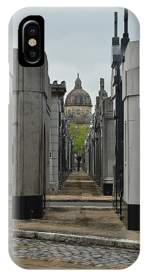 Buenos Aires IPhone X Case featuring the photograph Chacarita Cemetery by Steven Richman