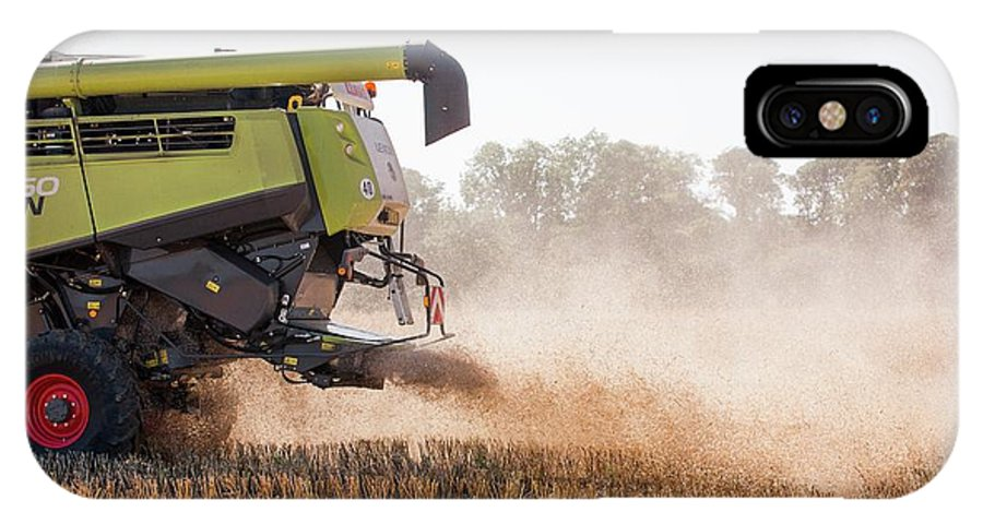 Rapeseed IPhone X Case featuring the photograph Chaff From Rapeseed Harvesting by Lewis Houghton/science Photo Library