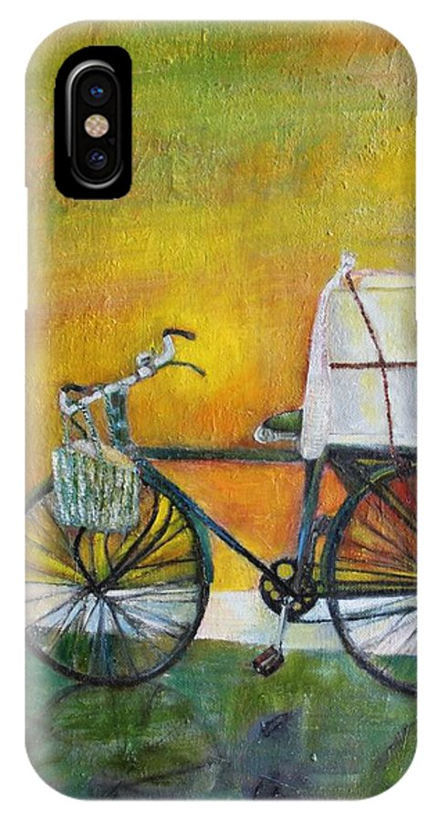 Chai IPhone X Case featuring the painting Chaiwallah by Neena Alapatt