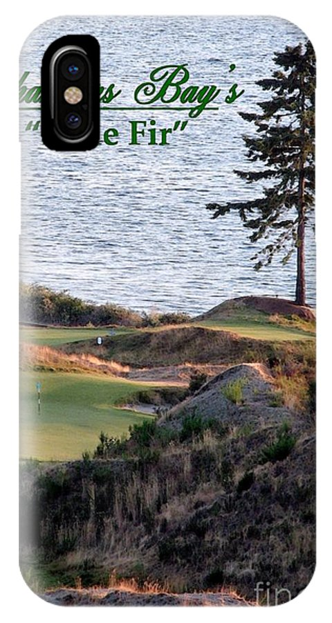2015 Us Open IPhone X Case featuring the photograph Chambers Bay's Lone Fir - Chambers Bay Golf Course by Chris Anderson