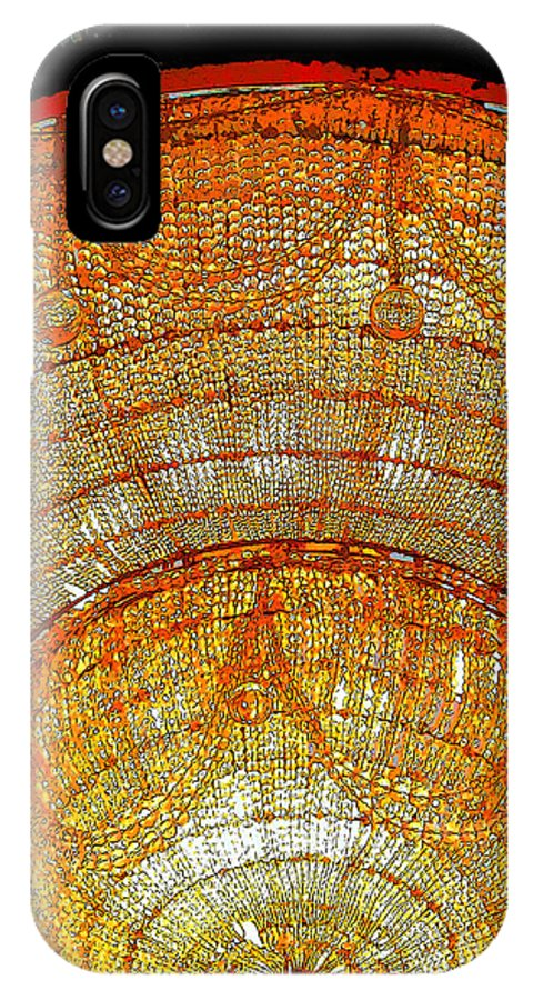 Chandelier IPhone X Case featuring the photograph Chandelier 1 by Sally Simon