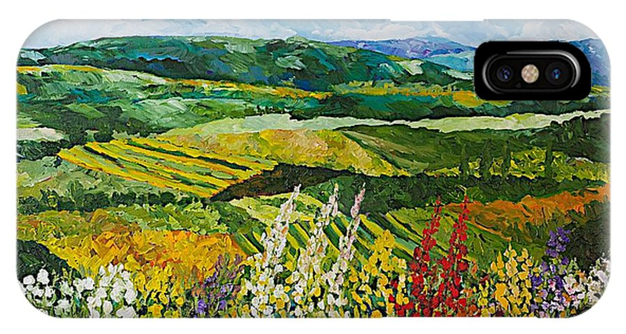 Landscape IPhone X Case featuring the painting Change Is In The Air by Allan P Friedlander