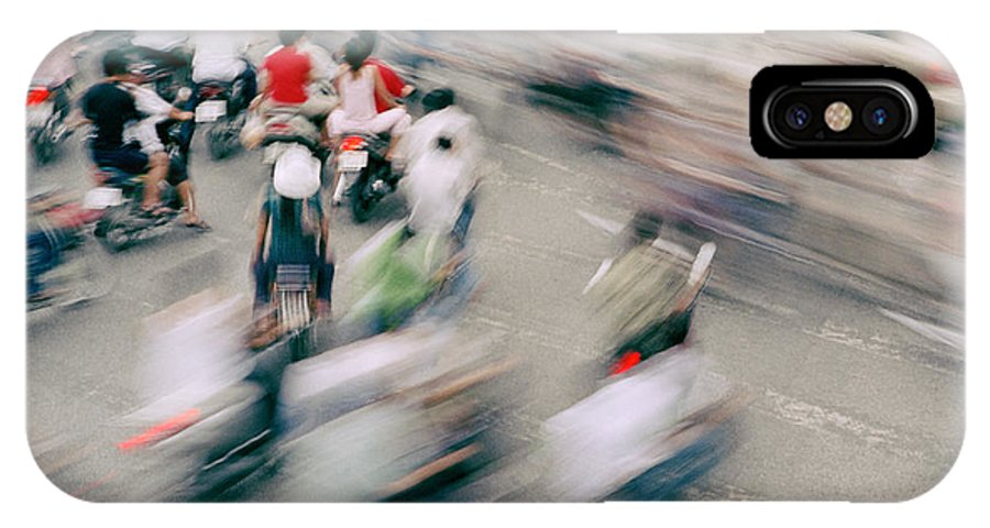Hanoi Vietnam IPhone X Case featuring the photograph The Junction by Shaun Higson