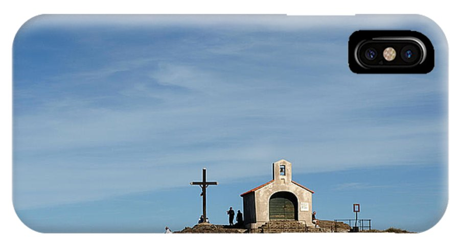 Chapel IPhone X Case featuring the photograph Chapel In The Sea by Valerie Mellema