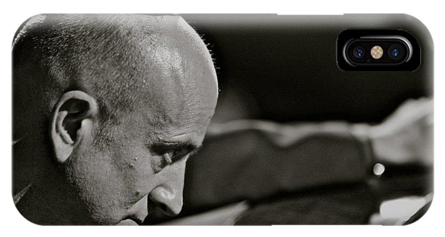 Portrait Photos IPhone X Case featuring the photograph Charismatic Faces - Bass Player - Roman . by Andrzej Goszcz