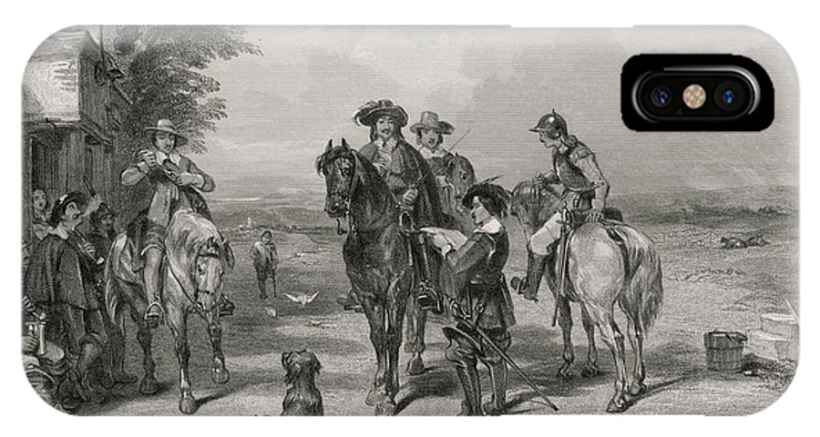 Charles IPhone X Case featuring the drawing Charles I Journeys To Scotland To Join by Mary Evans Picture Library