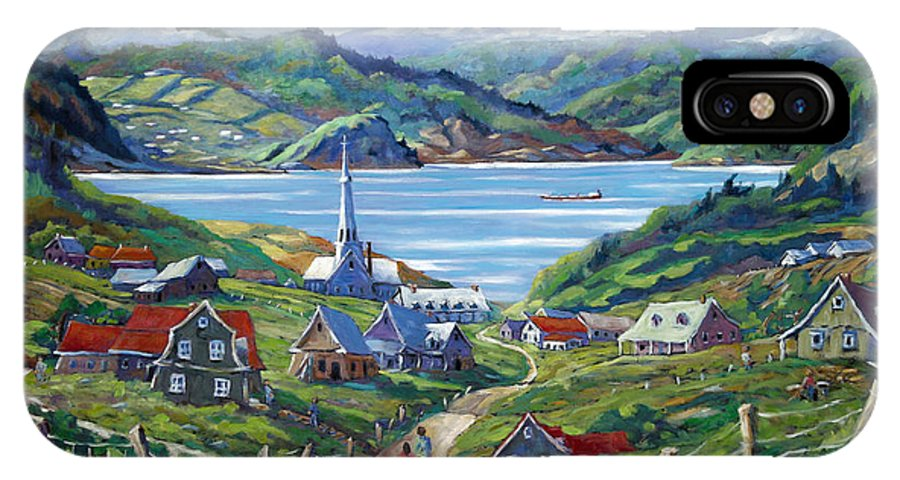 IPhone Case featuring the painting Charlevoix Scene by Richard T Pranke