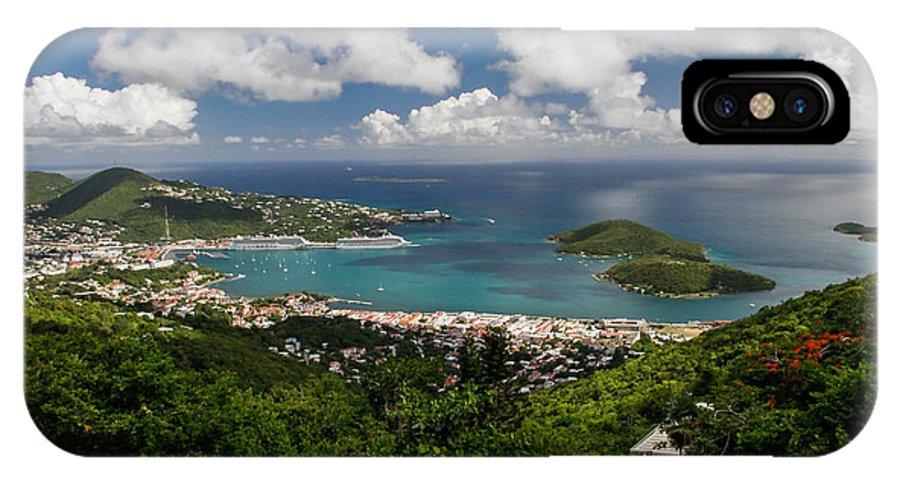 St. Thomas IPhone X Case featuring the digital art Charlotte Amalie Harbor by Thomas Kaestner
