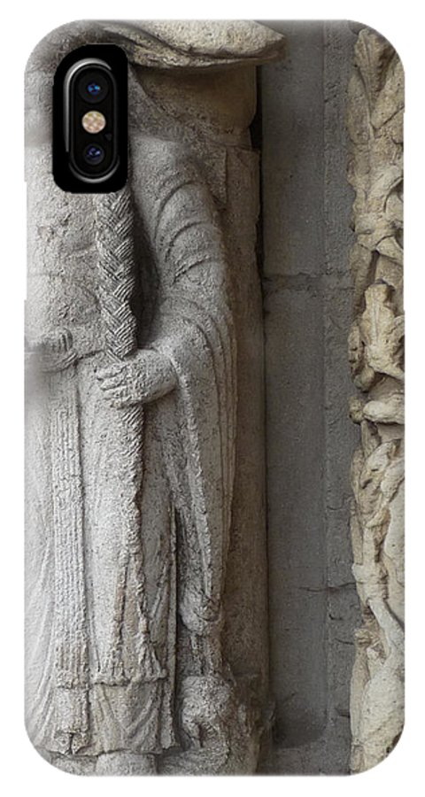 Chartres IPhone X Case featuring the photograph Chartres Cathedral Female Pilgrim by Deborah Smolinske