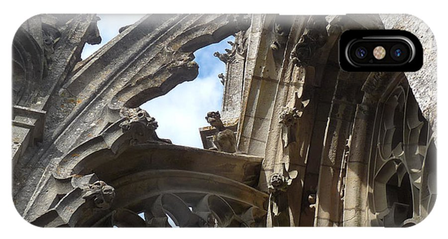 Chartres IPhone X Case featuring the photograph Chartres Flying Buttress by Deborah Smolinske