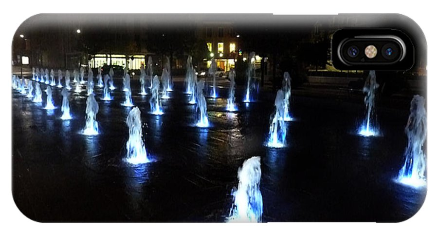 Chartres IPhone X Case featuring the photograph Chartres Street Fountains by Deborah Smolinske