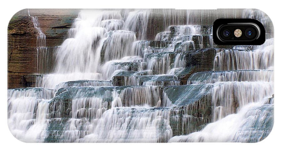 Ithaca IPhone X Case featuring the photograph Chasing Waterfalls by Debbie Fieno