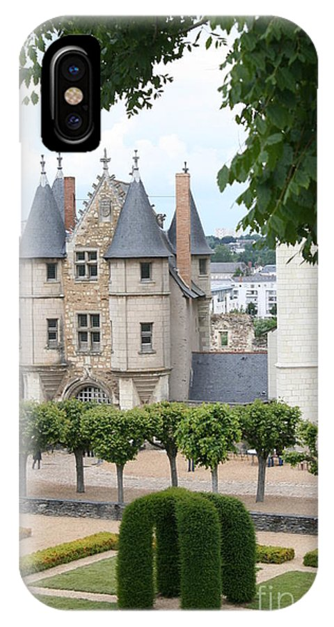 Castle IPhone X Case featuring the photograph Chateau D'angers - Chatelet View by Christiane Schulze Art And Photography